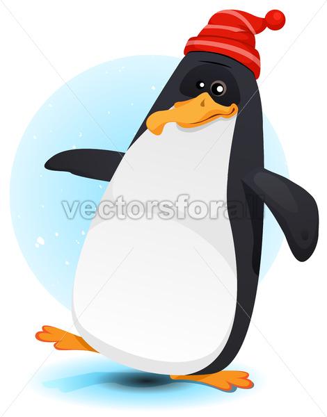 Happy Walking North Pole Penguin - Vectorsforall