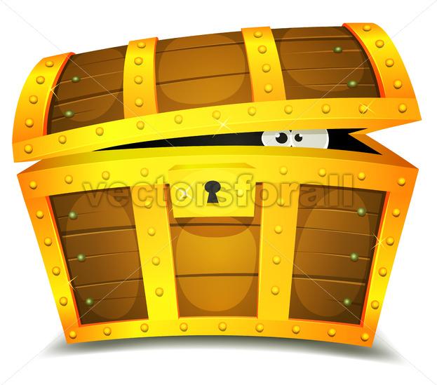 Hiding Inside Treasure Chest - Vectorsforall
