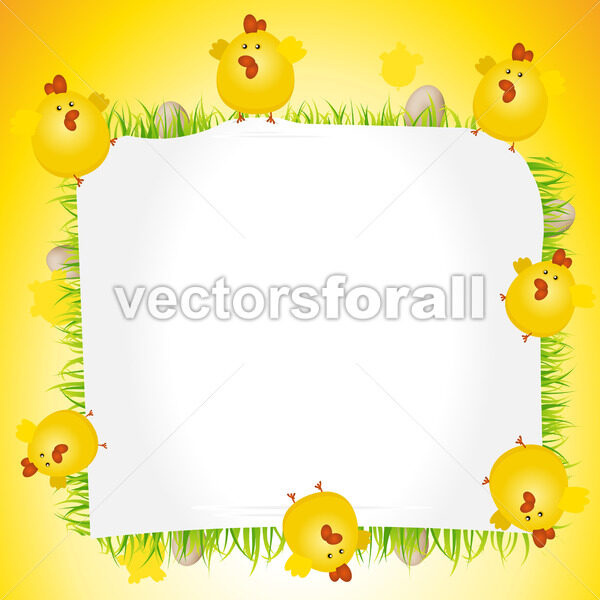 Holidays Easter Chicken Poster - Vectorsforall