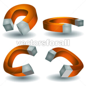 Horseshoe Magnet Set - Vectorsforall