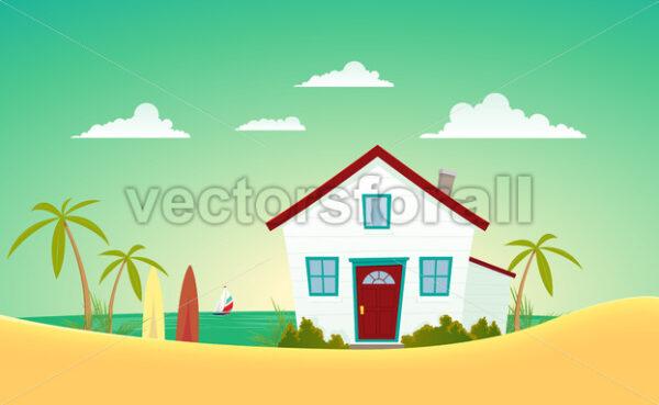 House Of The Beach - Vectorsforall