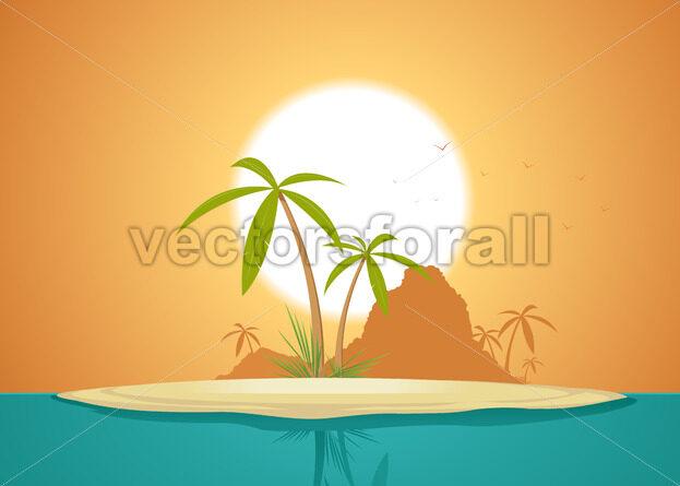 Idyllic Island Poster - Vectorsforall