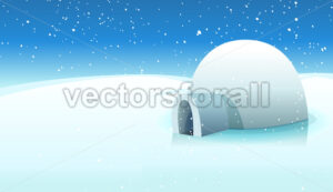 Igloo And Polar Icy Background - Vectorsforall