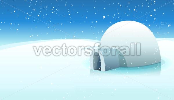 Igloo And Polar Icy Background - Vectorsforall