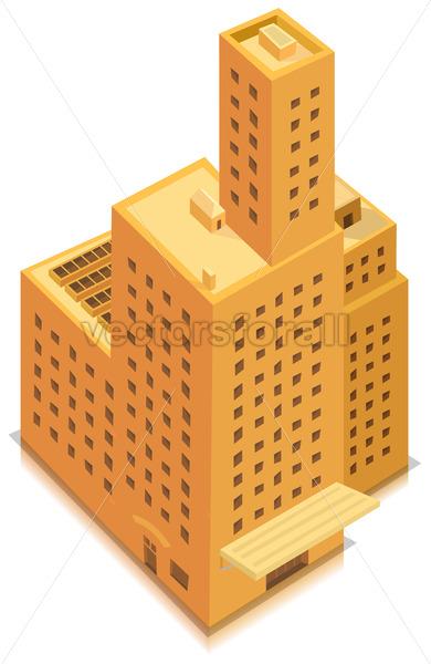 Isometric Business Big Building - Vectorsforall