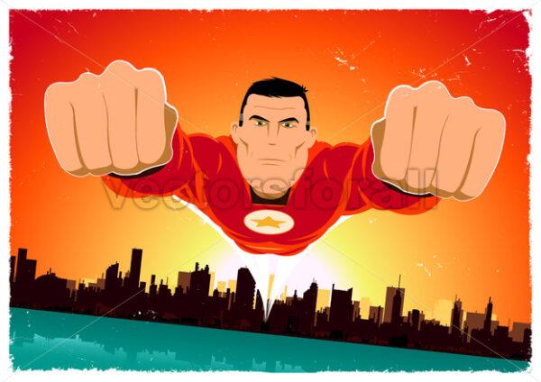 It's A Bird ! – Flying Super Hero - Vectorsforall