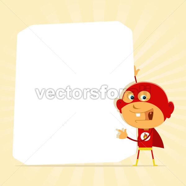 Kid Super Hero Sign - Vectorsforall