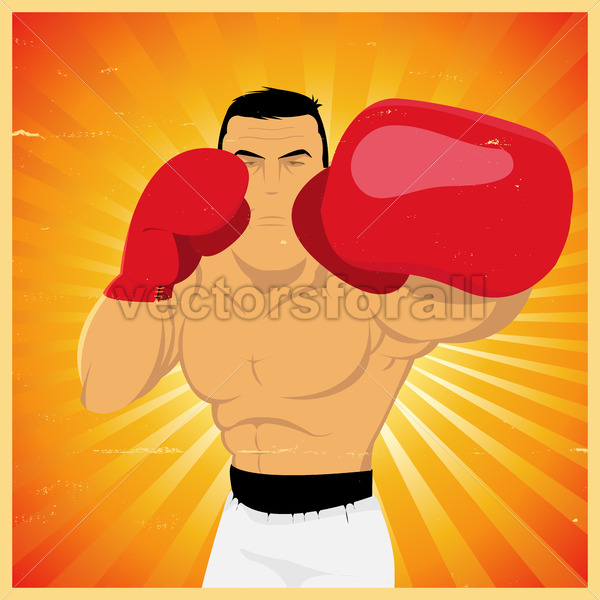Left Jab – Grunge Boxer Poster - Vectorsforall