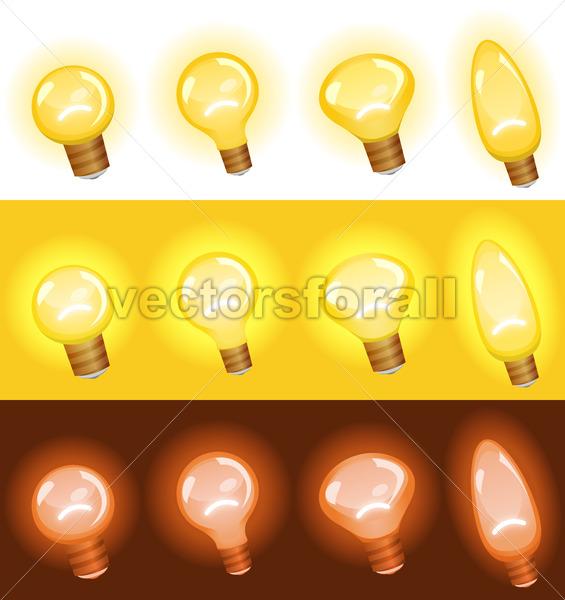 Light Bulb Set - Vectorsforall