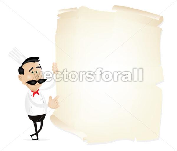 List Menu On A Parchment - Vectorsforall
