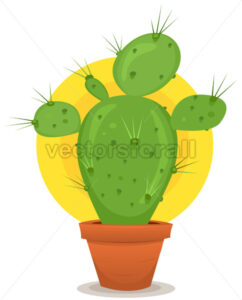 Little Cactus In Pot - Vectorsforall