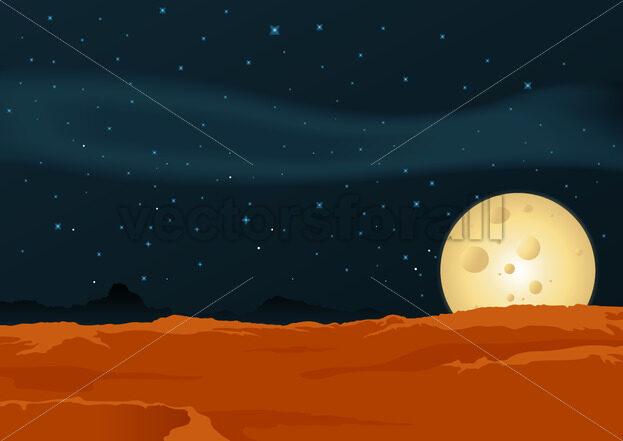 Lunar Desert Landscape - Benchart's Shop