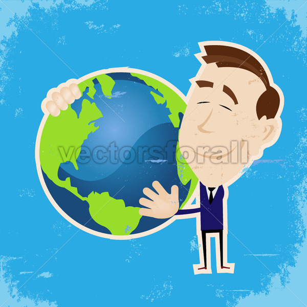Man Loving Earth - Vectorsforall