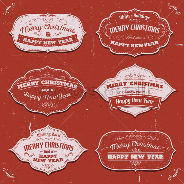 Merry Christmas Banners, Badges And Frames - Vectorsforall