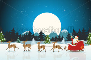 Merry Christmas Card - Vectorsforall