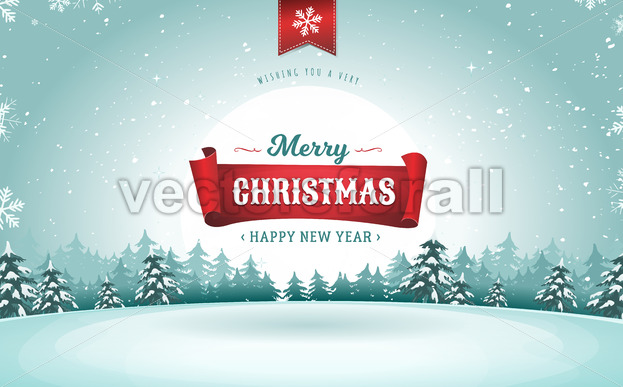 Merry Christmas Greeting Card - Vectorsforall