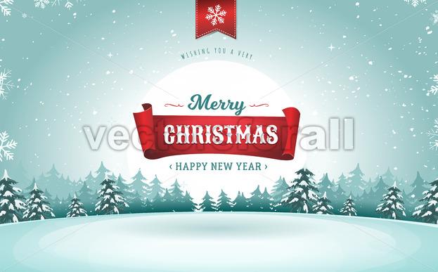 Merry Christmas Greeting Card - Vectorsforall