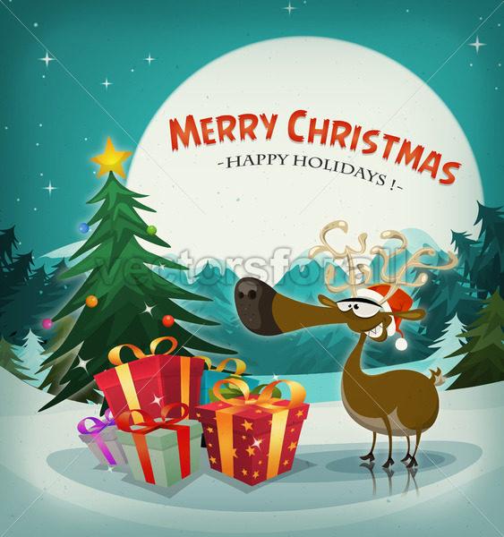 Merry Christmas Holidays Background - Vectorsforall