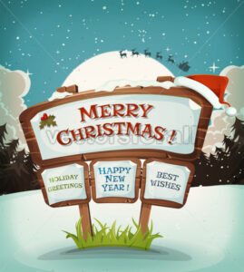 Merry Christmas Holidays Background - Vectorsforall