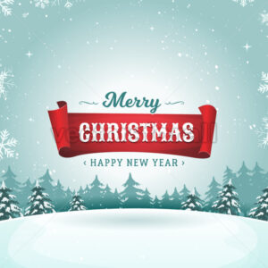 Merry Christmas Holidays Greeting Card - Vectorsforall