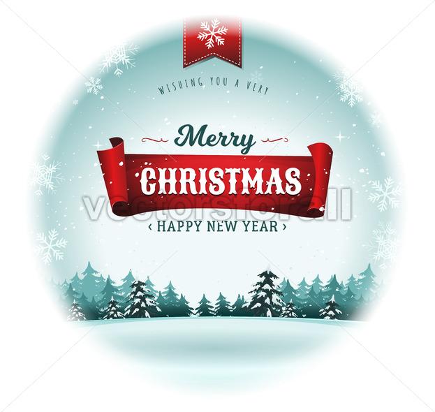 Merry Christmas Holidays Snowball - Vectorsforall