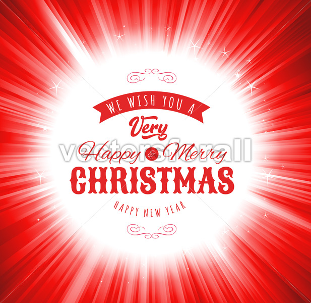 Merry Christmas Wishes Background - Vectorsforall