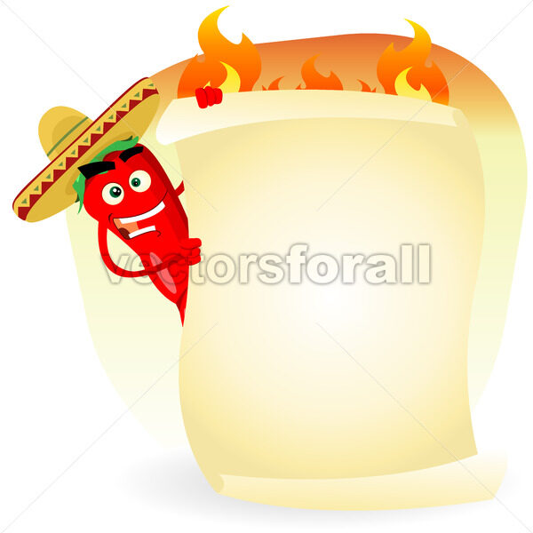 Mexican Food Restaurant Spice Banner - Vectorsforall