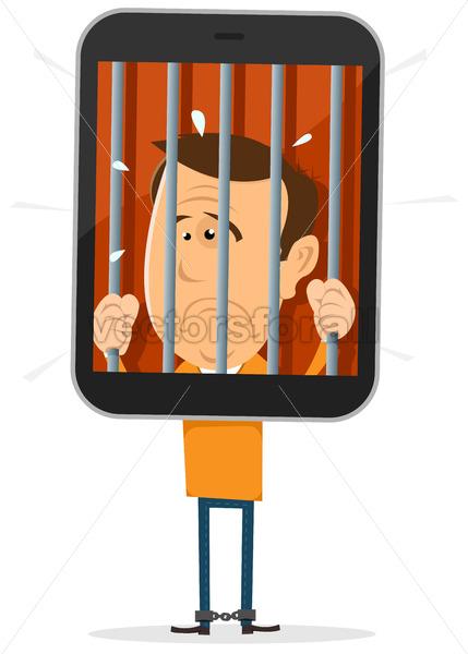 Mobile Phone Prisoner - Vectorsforall