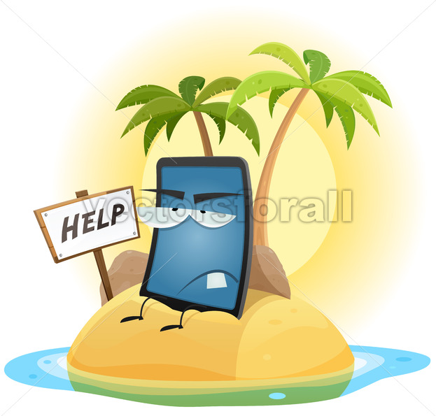 Mobile Phone Technology Shipwreck - Vectorsforall