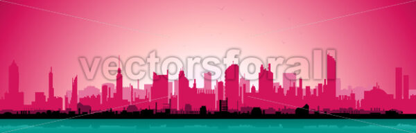 Morning Urban Landscape - Vectorsforall