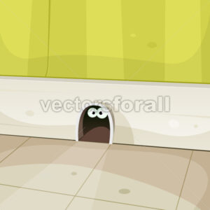 Mouse Home Inside Walls - Vectorsforall