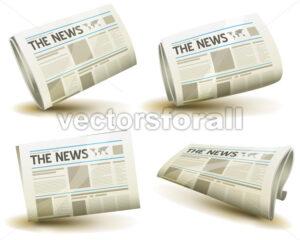 Newspaper Icons Set - Vectorsforall