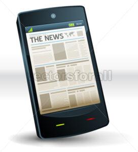 Newspaper Inside Pocket Mobile Phone - Vectorsforall