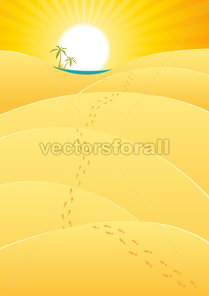 Oasis In The Desert - Vectorsforall