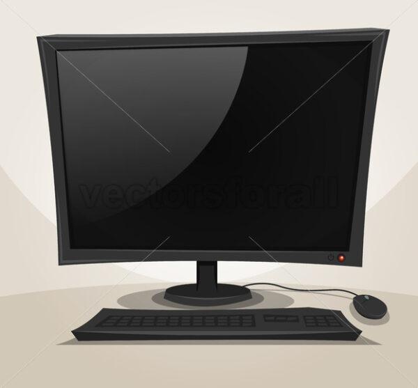 Offline Desktop Computer - Vectorsforall