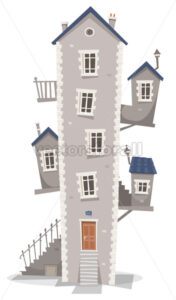 Old House Building - Vectorsforall