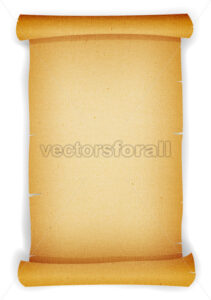 Old Textured Parchment Scroll - Vectorsforall