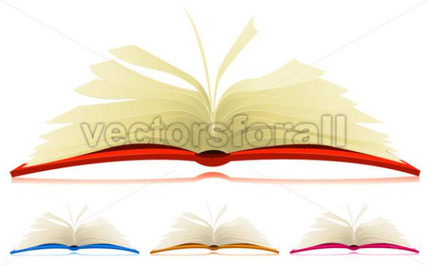 Open Book Set - Vectorsforall