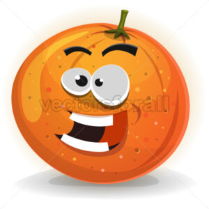 Orange Fruit Character - Vectorsforall