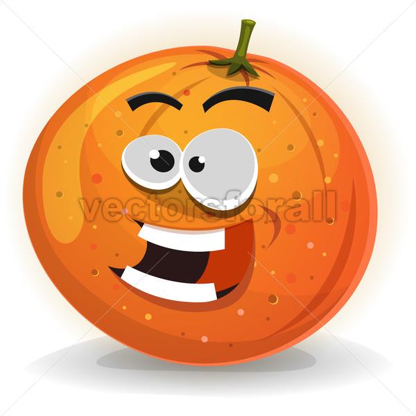 Orange Fruit Character - Vectorsforall