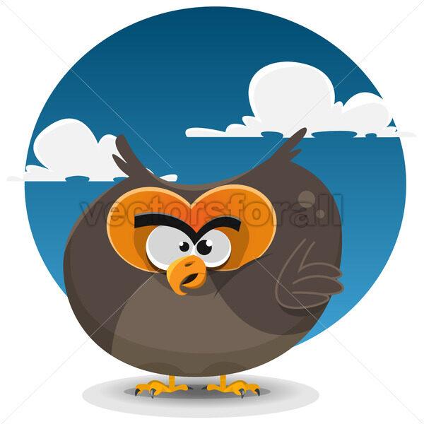 Owl Cartoon Character - Vectorsforall