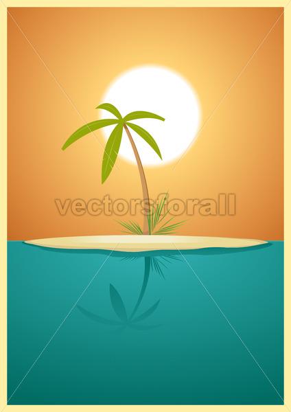Paradise Island - Vectorsforall