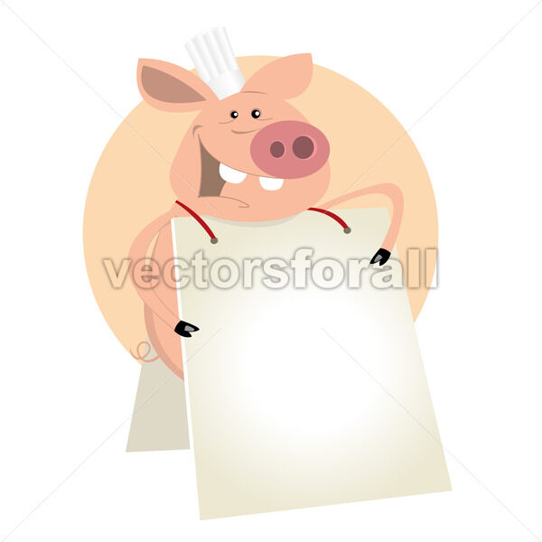 Pig Cook Sign - Vectorsforall
