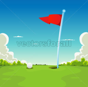 Putting Green – Golf Ball And Flag - Benchart's Shop