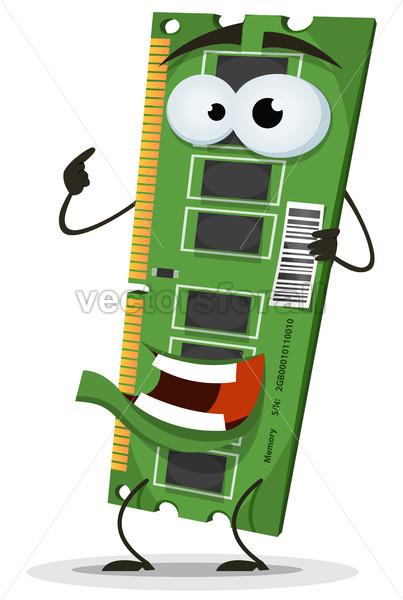 RAM Memory Card Character - Vectorsforall