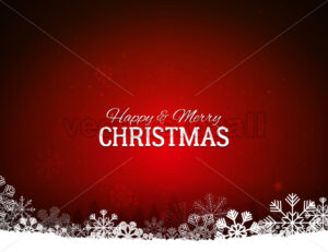 Red Merry Christmas Background With Snowflakes - Vectorsforall