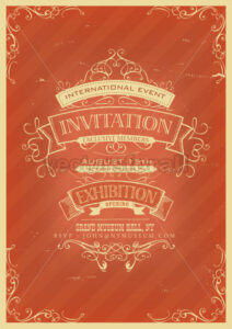 Retro Red Invitation Background - Vectorsforall