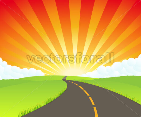 Road To Paradise - Vectorsforall