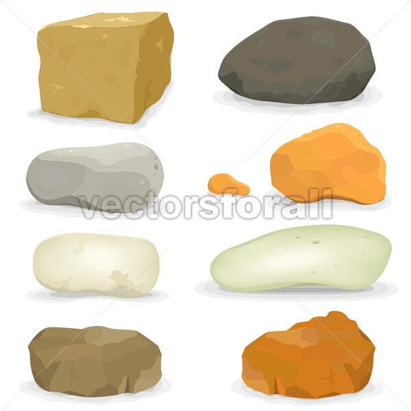 Rocks And Stones Set - Vectorsforall