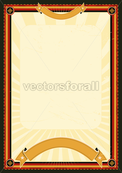 Royal Menu Poster - Vectorsforall